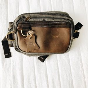 Leather fanny pack/ belt purse